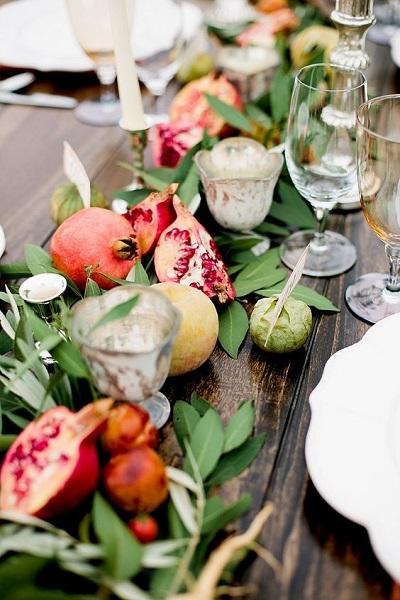 Tafeldecoratie met fruit