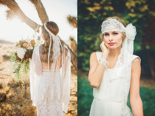 Bruiden met alternatieven voor sluier