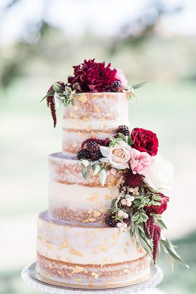 Bruidstaart met een touch of gold