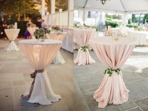 Statafels op bruiloft