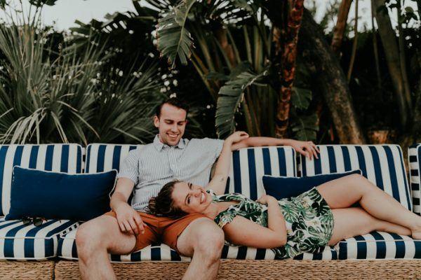 Fotoshoot tijdens huwelijksreis