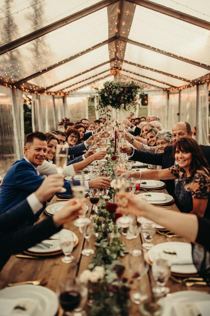 Foto van het bruiloft diner