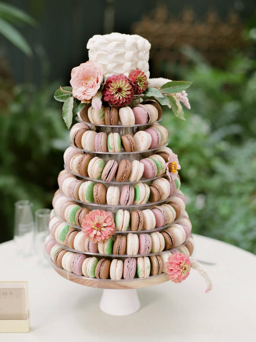 Bruidstaart van macarons