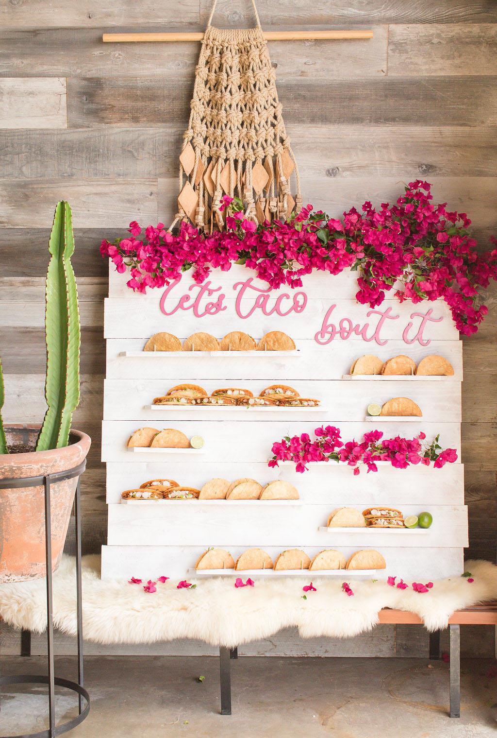 Taco station op bruiloft