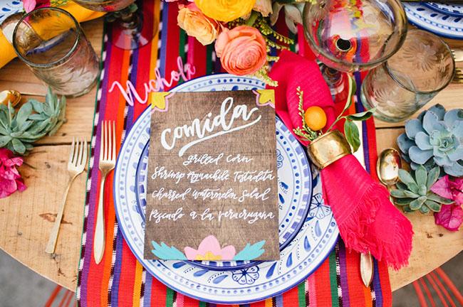 Mexicaanse bruiloft styling voor het diner