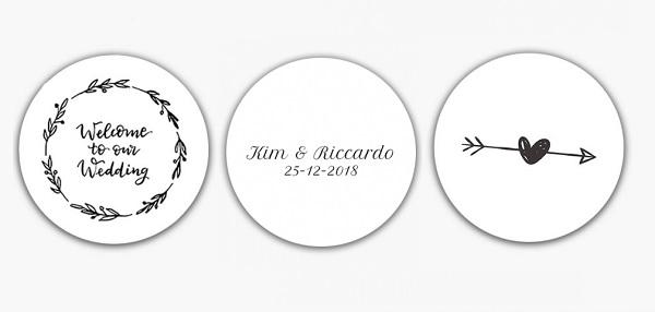 Sluitzegels voor originele trouwkaarten