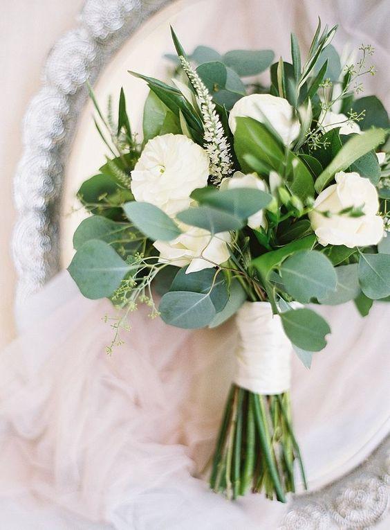 Goedkoop groen bruidsboeket