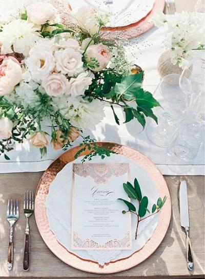 Rosé goud bruiloft thema