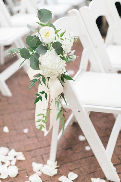 Trouwceremonie stoelen