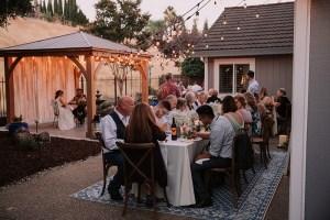 Bruiloft in de tuin