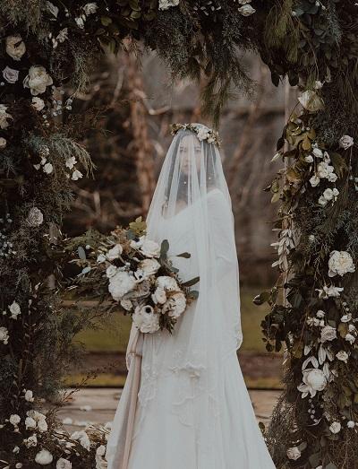 Winterbruiloft bruid