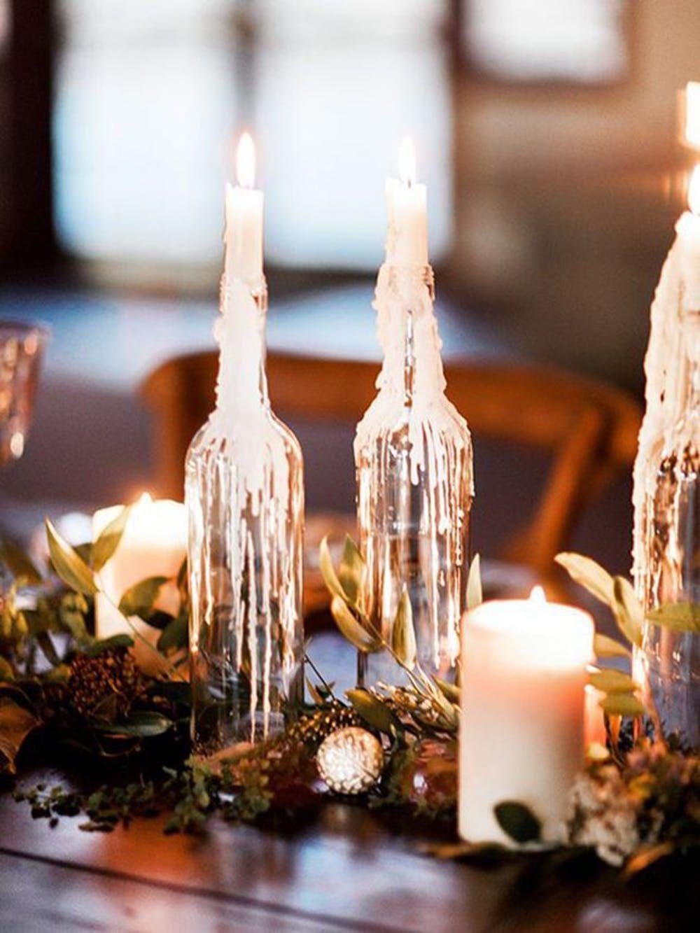 Decoratie voor een winter bruiloft