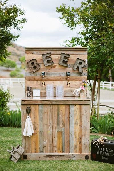 DIY bierbar bruiloft