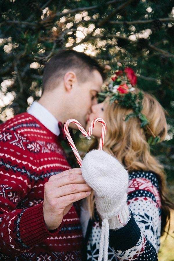 Kerst bruiloft met zuurstokken