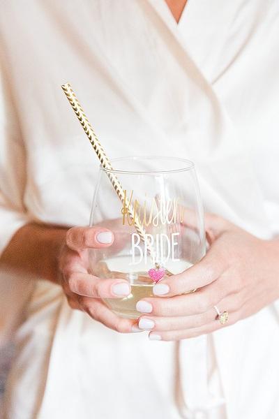 Bruidsnagels met glas