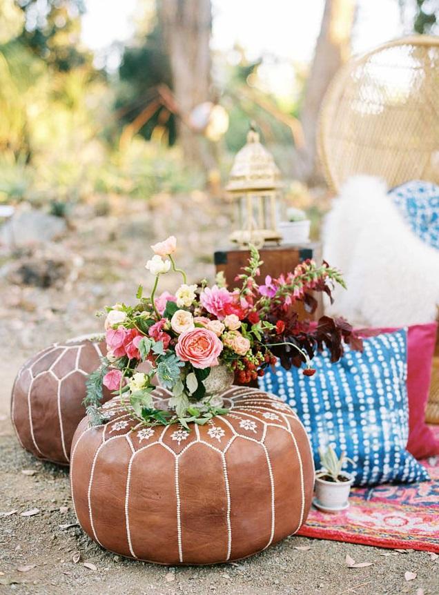 Boho bruiloft decoratie