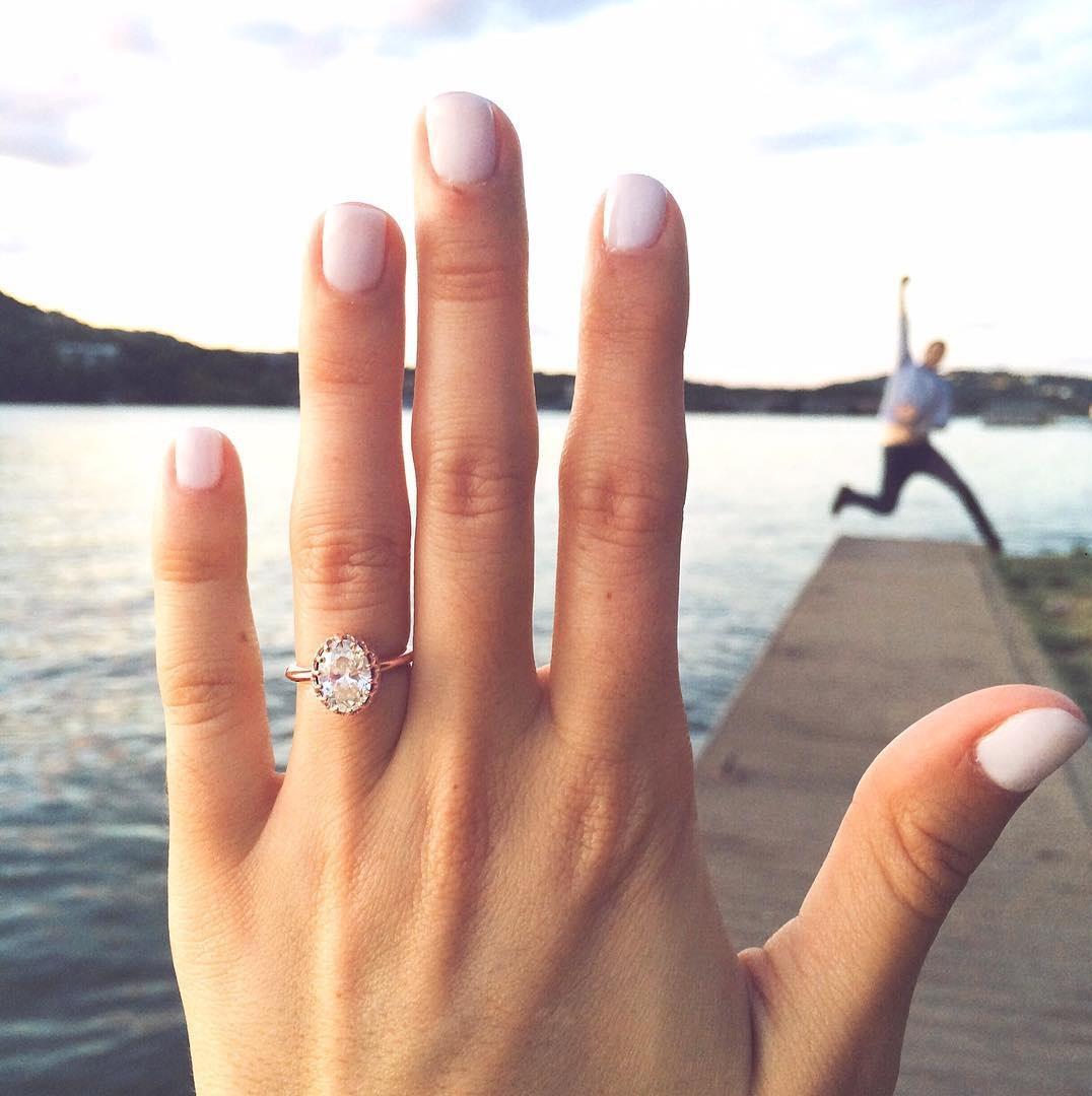 Verlovingsfoto voor Instagram