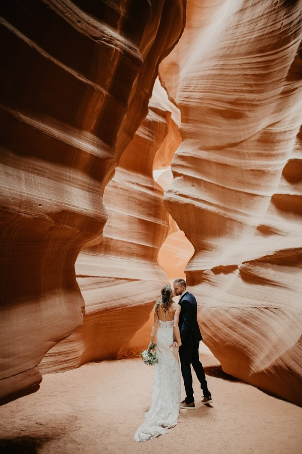 Bruidspaar in Arizona