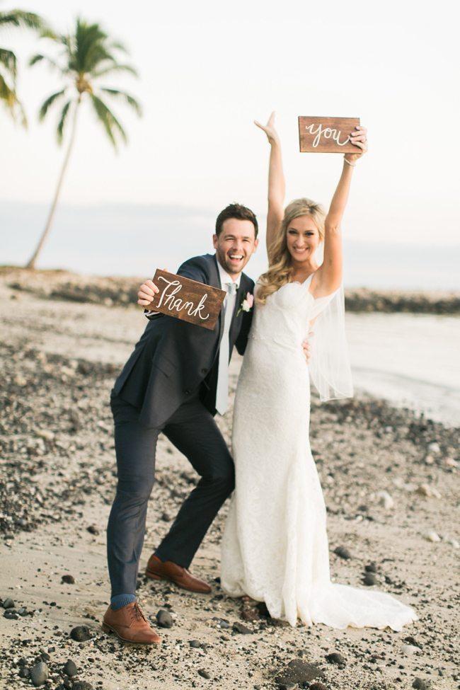 Foto op bruiloft voor de bedankkaartjes