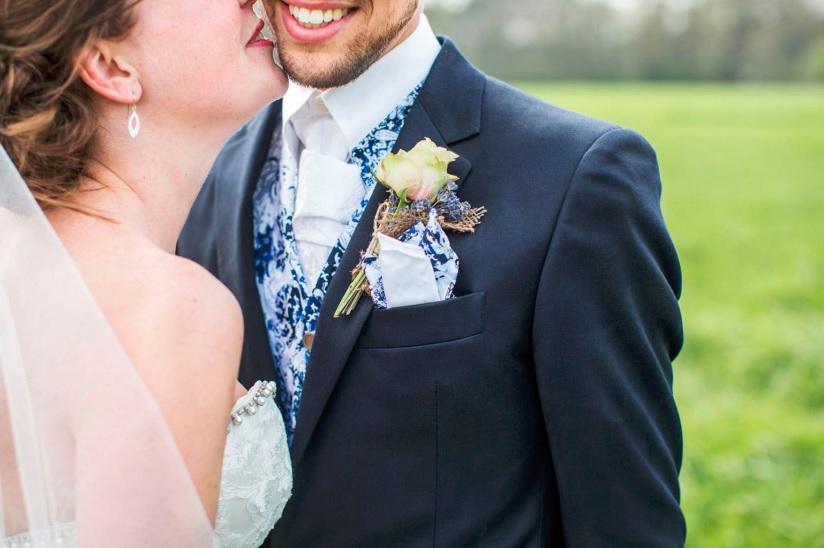 Bruidegom met opvallend printje