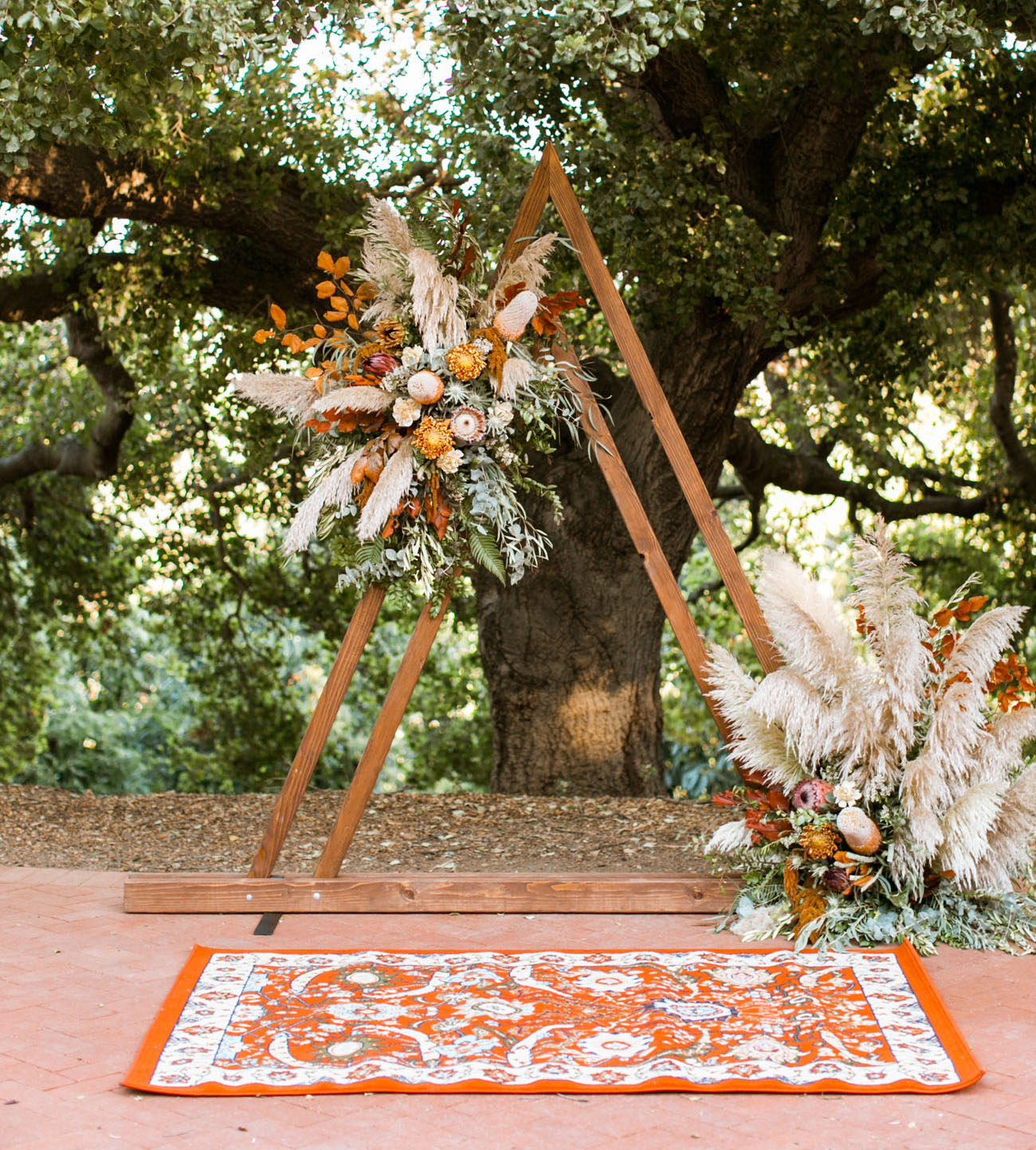 Bruiloft backdrop driehoek