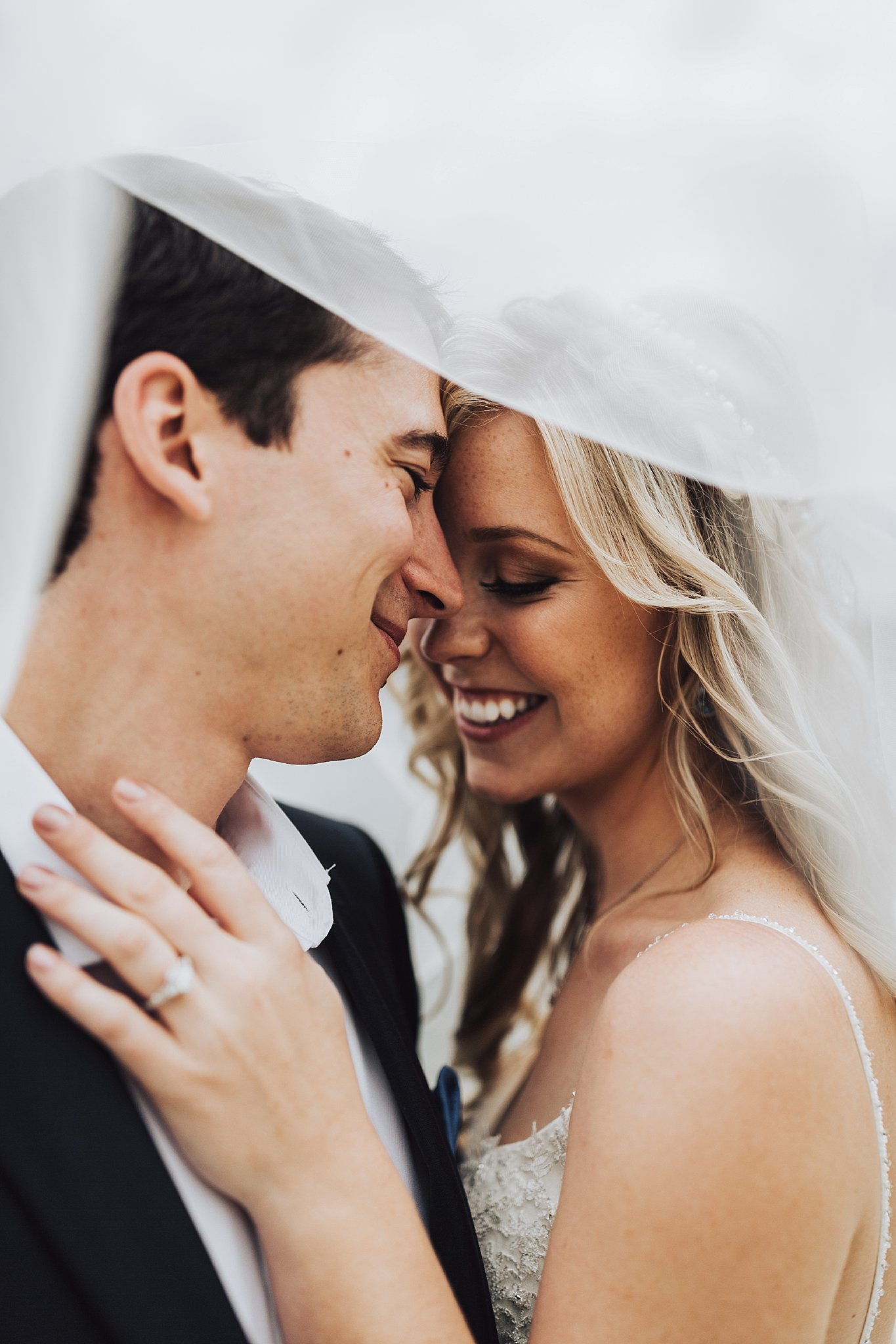 Bruid en bruidegom trouwreportage
