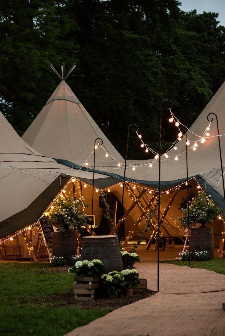 Lichtjes als bruiloft versiering
