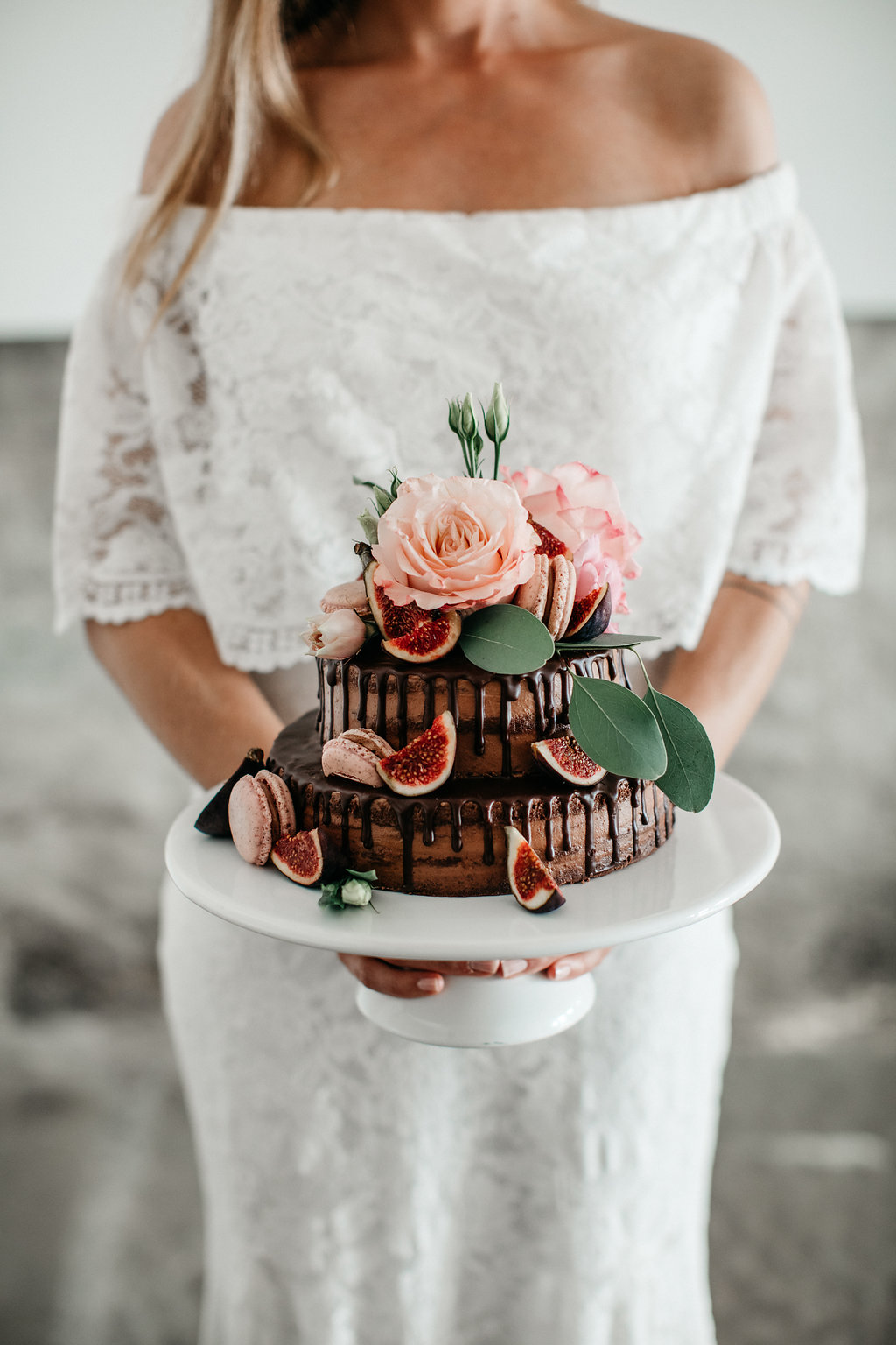 Bruidstaart met decoratie