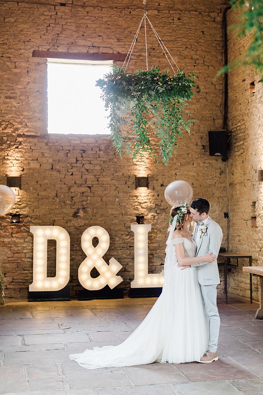 Letters als trouwdecoratie