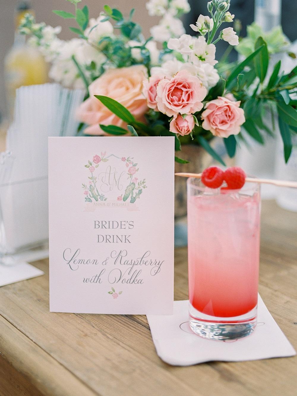 Decoratie bruiloft drankje