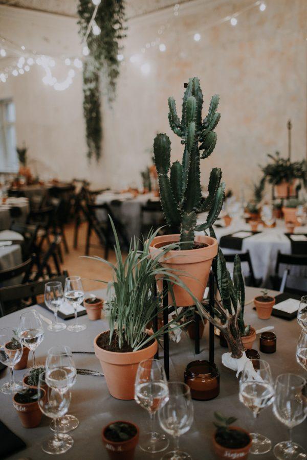 Planten als bruiloft versiering