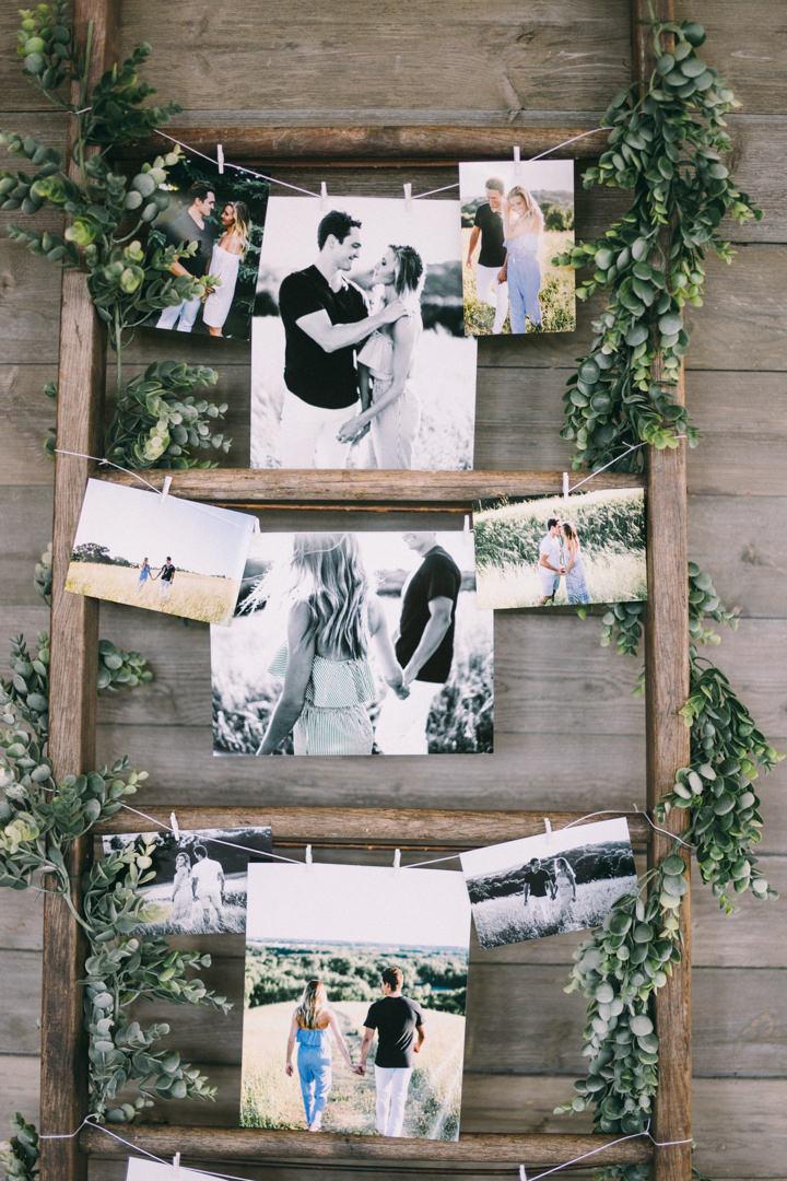 Foto's als bruiloft versiering