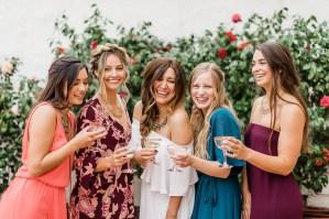 Bride to be met vriendinnen