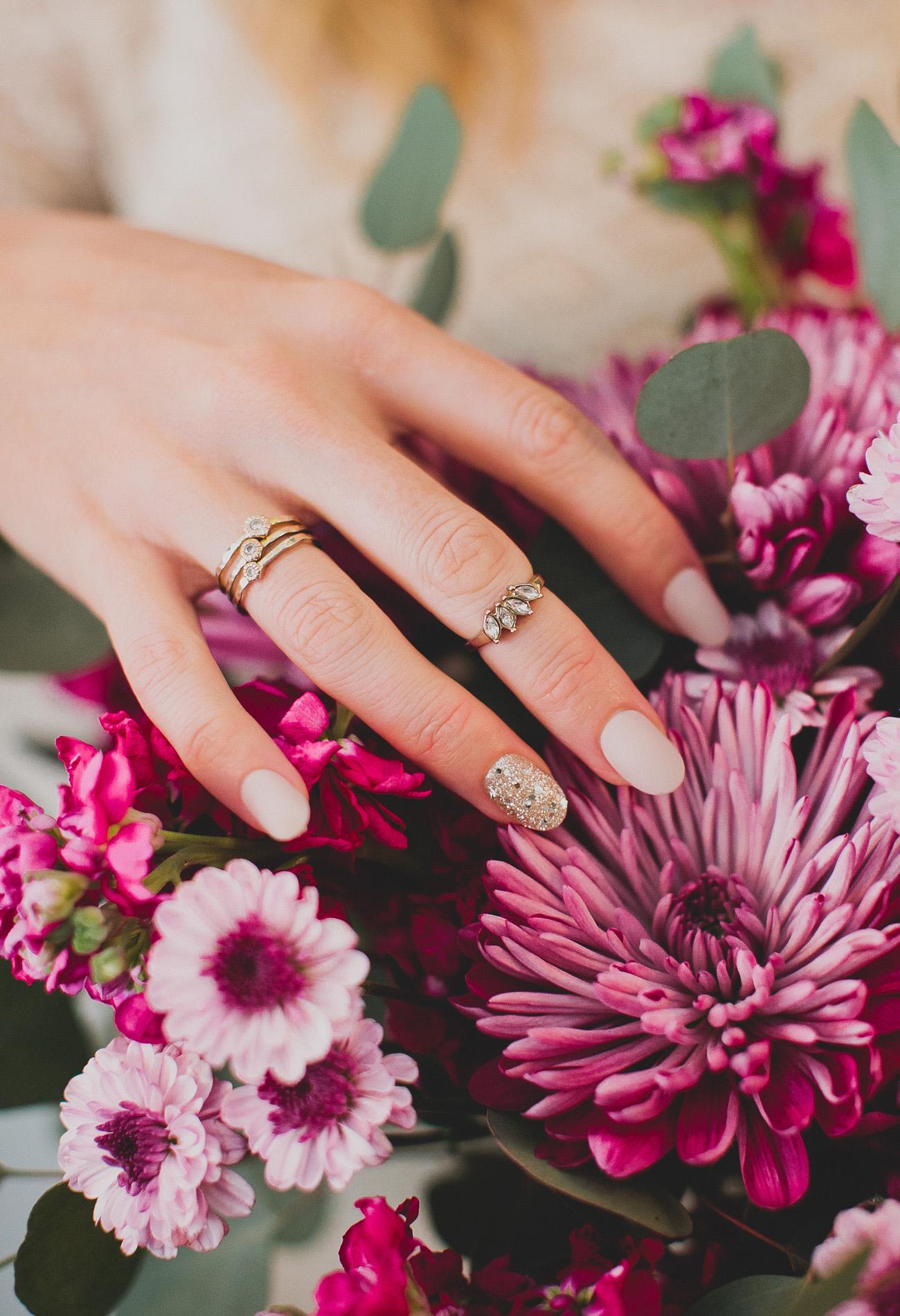 Bruidsnagels met glitters