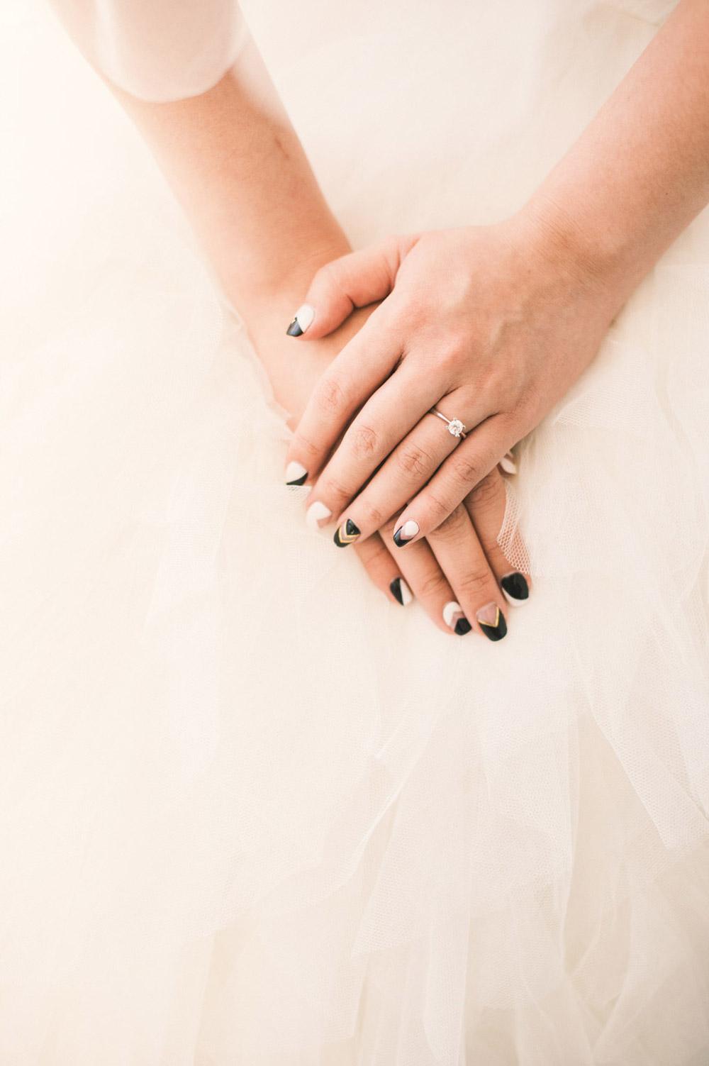Bruidsnagels met nailart