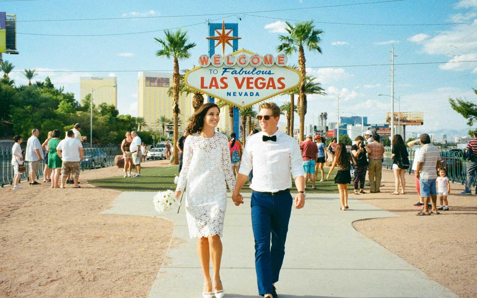 Bruidspaar in Las Vegas