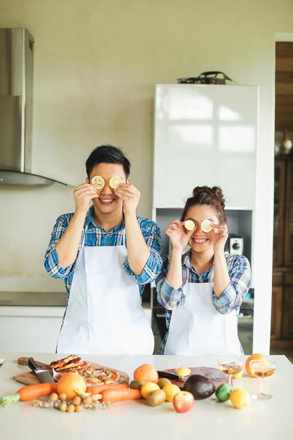Romantisch samen koken