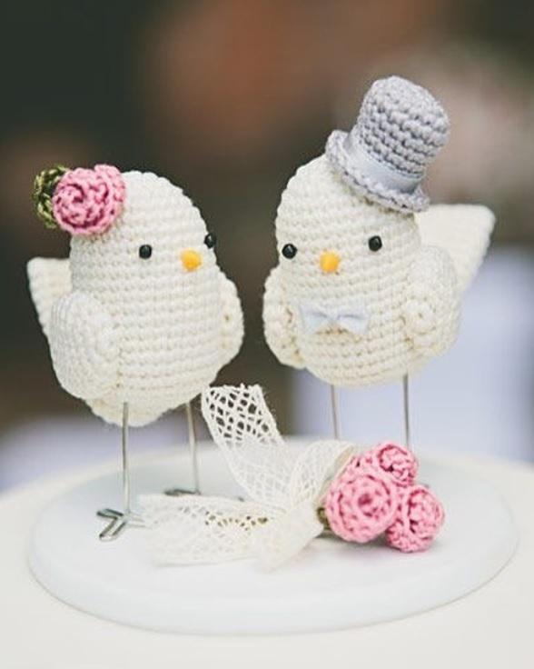 Tortelduifjes haken als huwelijkscadeau