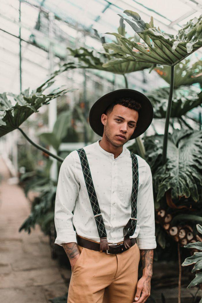 Boho chic voor mannen met hoed