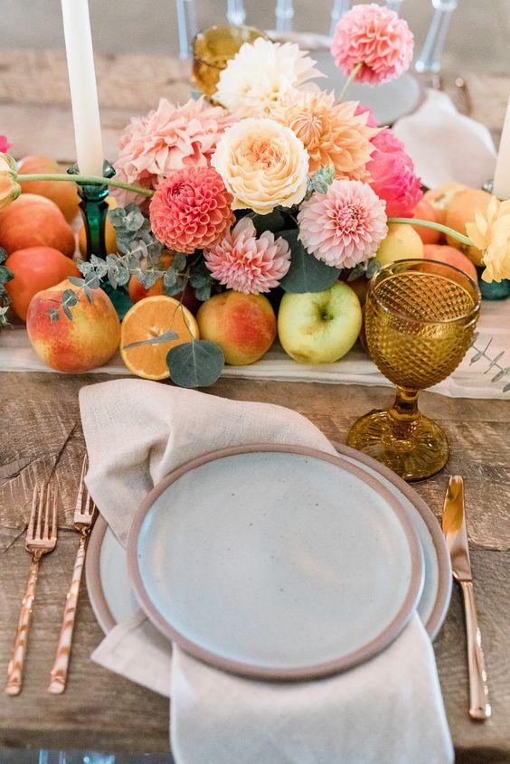 Fruit als bruiloft decoratie