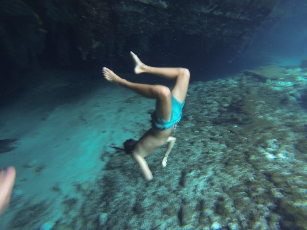 Diving in Grand Cenote