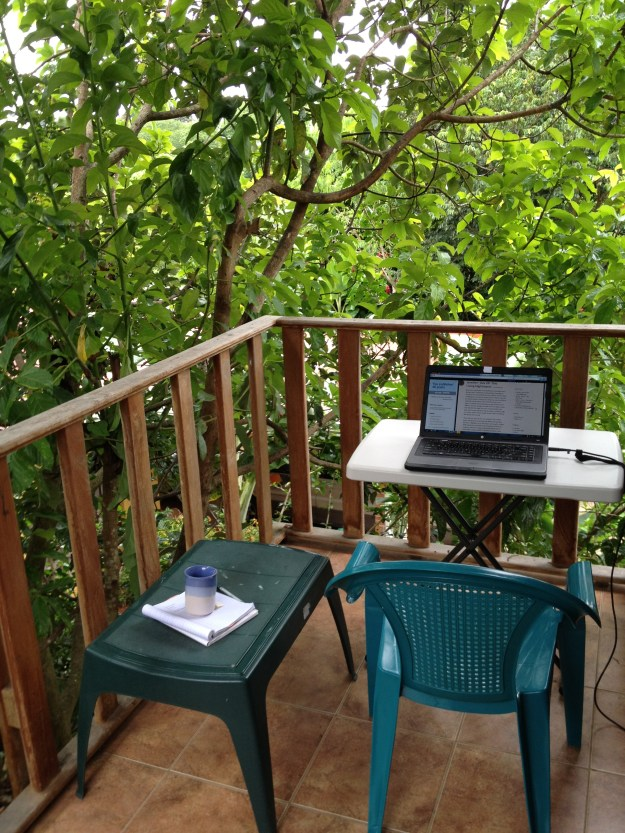 outdoor office space in a lovely florid setting