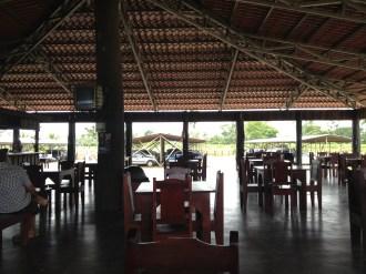The restaurant at Rio Suerte near La Pavona