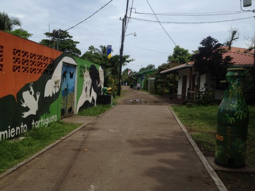 Tortuguero Village walking path