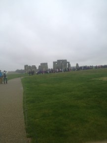 As we got closer to Stonehenge, we could see that there were a lot of people there already even though it was a Tuesday and it was raining.