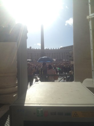 In fact, thousands and thousands of people had gathered to hear the pope speak. He was giving the Sunday blessing.