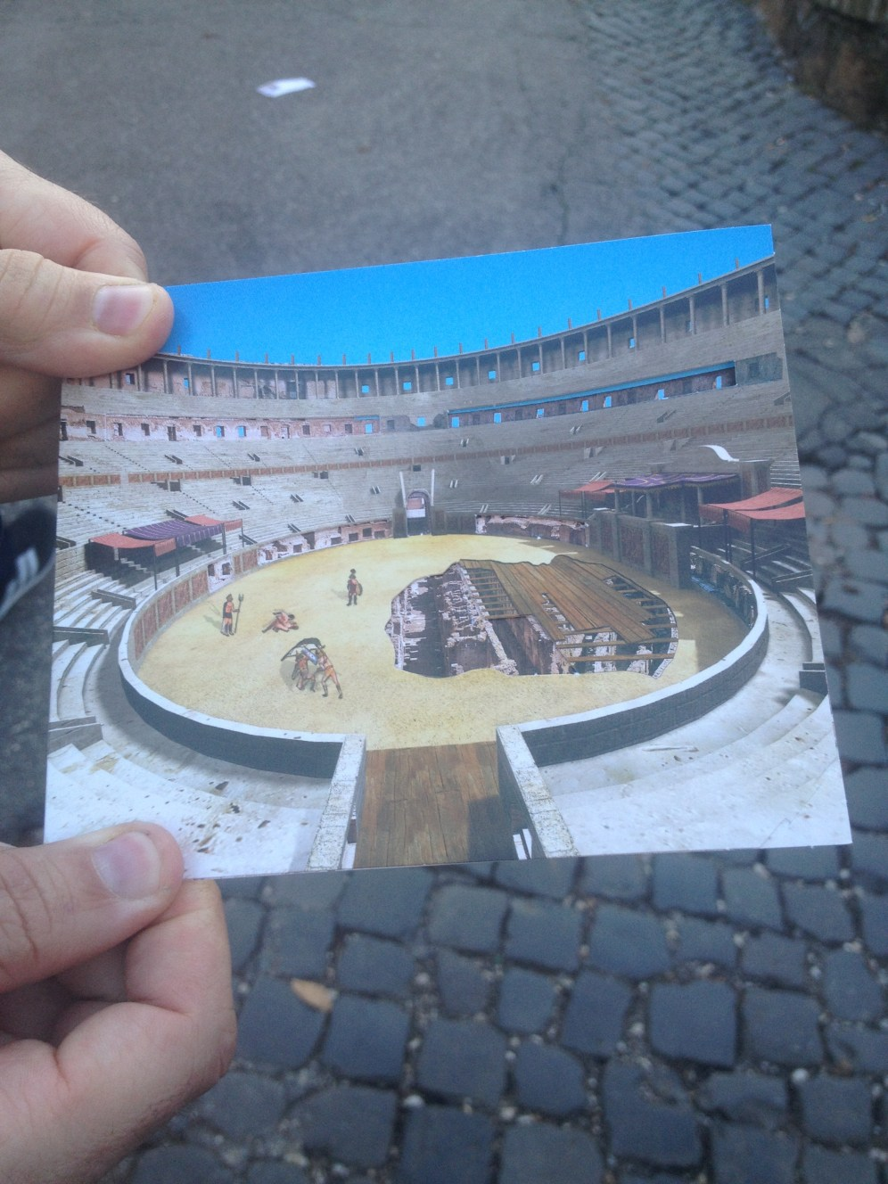 We sent a postcard from the gift shop at the Colosseum...