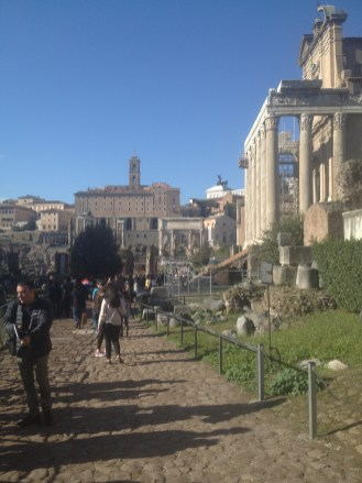 We were able to walk through the ruins of the city and see some of the decaying buildings up close.