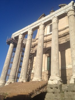 """The Roman Forum was a place where the people of the city would gather and have government """"discussions"""" (today we call them """"protests""""). Right before a big event at the Colosseum, the gladiators would march through this area on their way to the Colosseum."""
