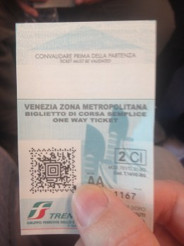 Once we'd purchased a ticket, we had 1 hour to get on a train to Venice.